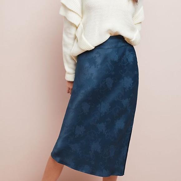 """Anthropologie Dresses & Skirts - Moulinette Soeurs """"Samantha"""" Jacquard Slip Skirt"""